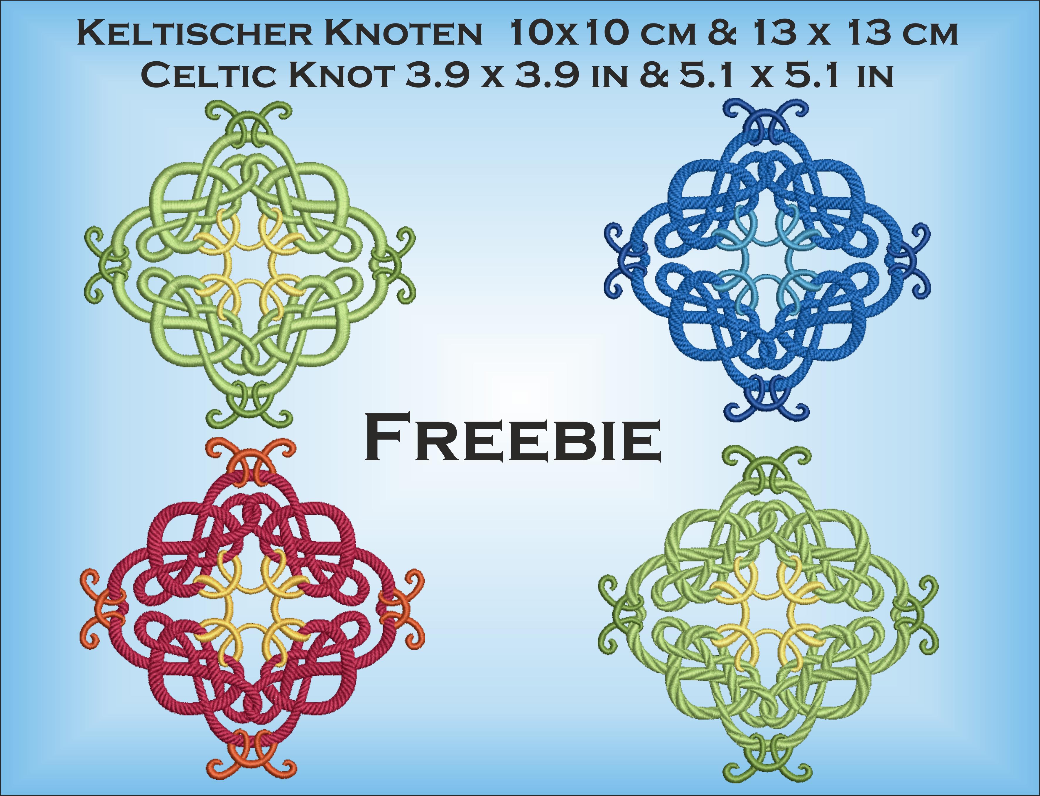 Freebie: Keltischer Knoten 10×10 und 13×13